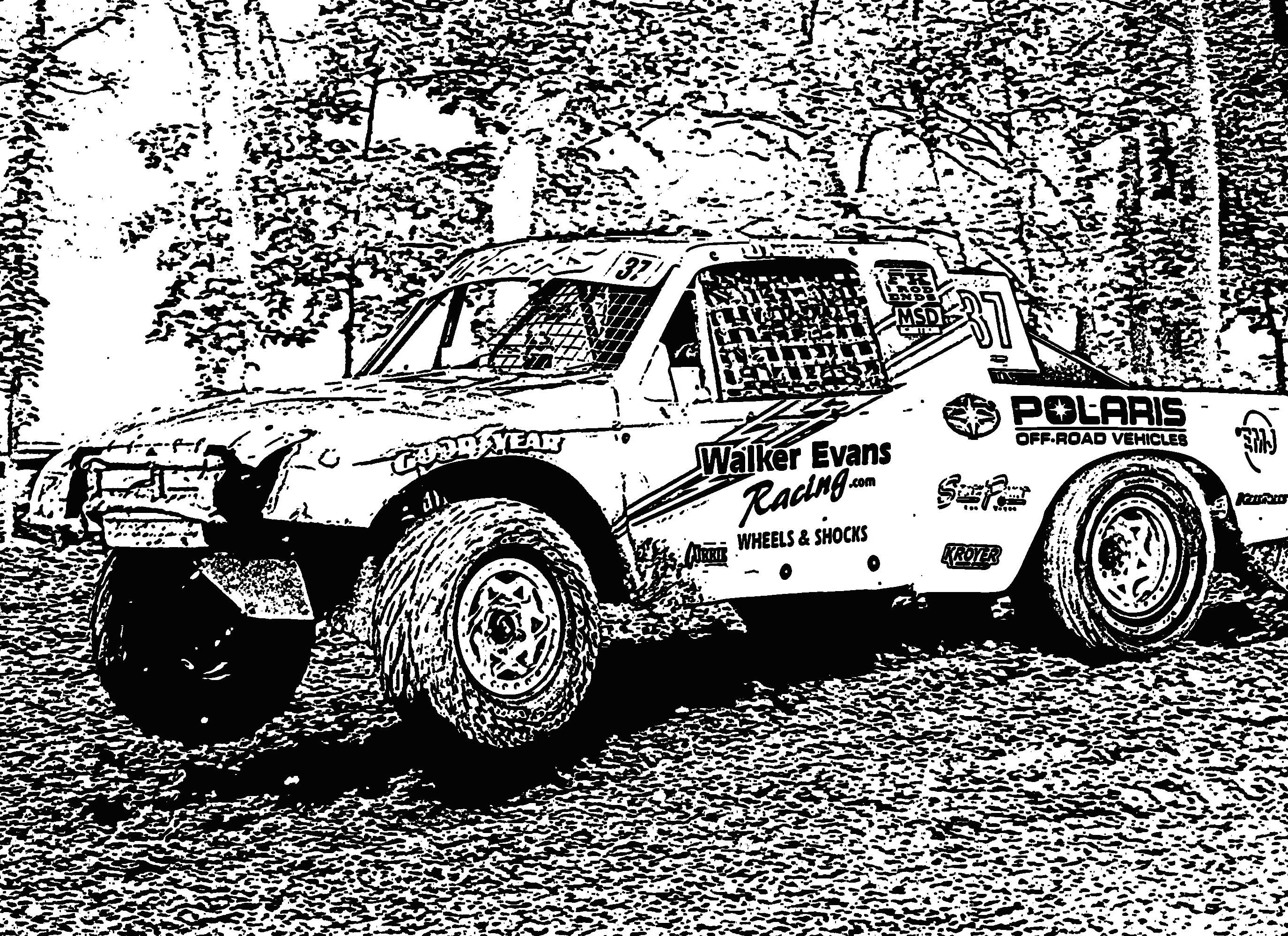 Racing Truck Coloring Pages Off-road Truck Racing Col